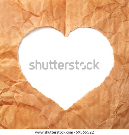 Paper heart background with copy space