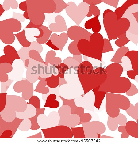Paper Hearts Shapes Background Showing Love Romance And Valentines