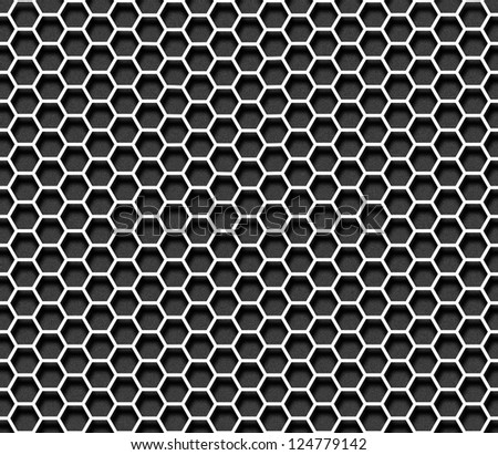 Paper hexagon seamless background
