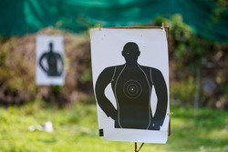 Paper labels for firearms practice