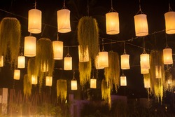 Paper lanterns on the india wedding in thailand