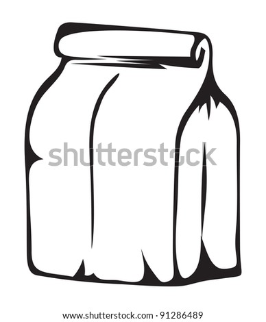 Paper money bag. Vector format is also available in my gallery