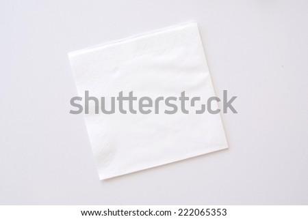 paper napkin on bright background