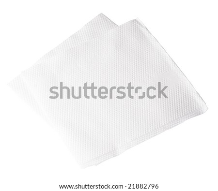 Paper Napkin on white background