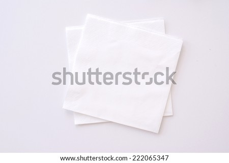 paper napkins on bright background