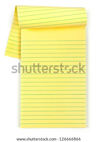 paper notebook isolated
