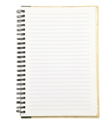 paper notebook right page