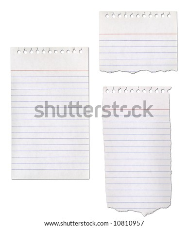 Paper notepad collection - ripped.