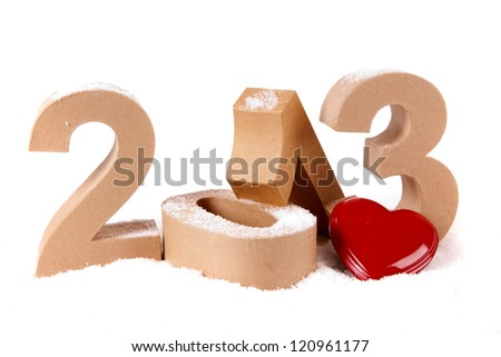 Paper numbers forming 2013 as for the new year
