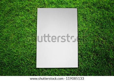 Paper on green grass field