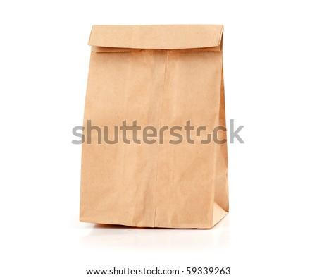 Paper package isolated on a white background