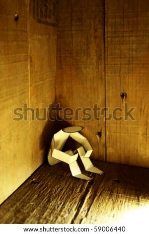 paper person in corner