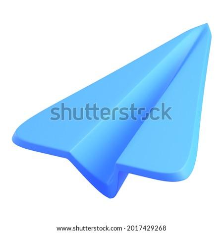 Paper plan send digital information icon 3D render illustration Photo stock ©