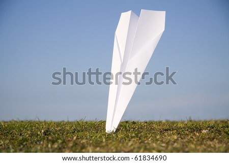 Paper plane crashed into the ground