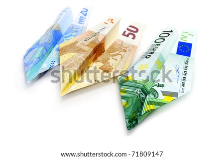 paper planes made with euro bills