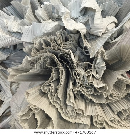 Paper pleat for use pleated fabrics.fabric material. ストックフォト ©