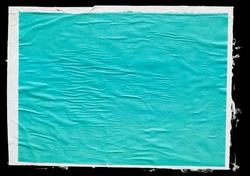 Paper poster mockup. Glued color paper sheet texture background