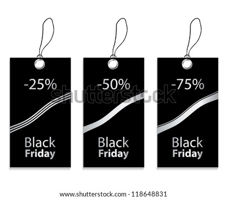 paper price tag for black friday