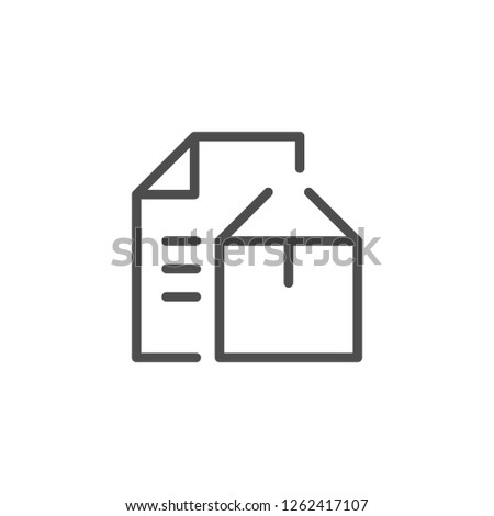 Paper products line icon isolated on white