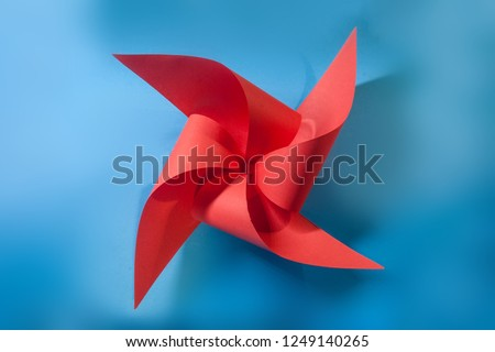 paper propeller on background