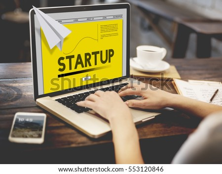 Paper Rocket Startup Business Concept