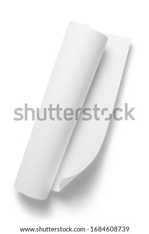 Paper roll, isolated on white background ストックフォト ©