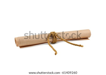 Paper roll isolated on white background.
