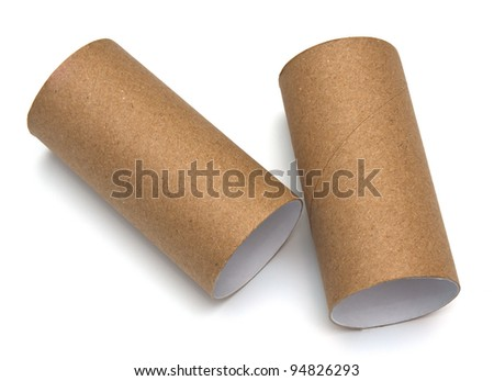 paper roll of bathroom on white background