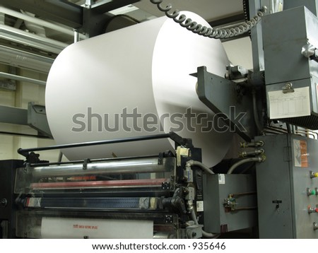 Paper roll on web printing press