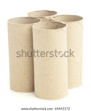 paper rolls isolated on a white background