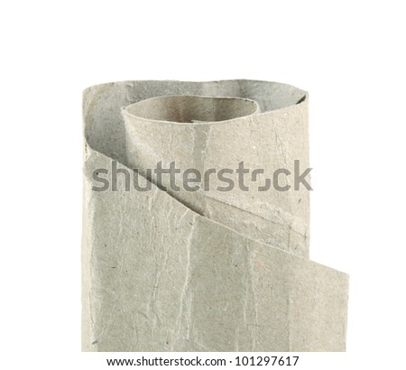 Paper rolls tissue isolated on white background