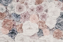 Paper rose background