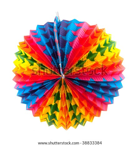 Paper round Chinese lantern in many colors