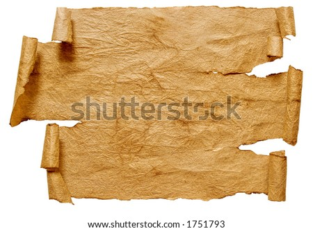 Paper scroll with path - stock photo