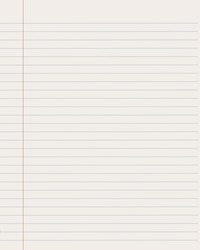 Paper sheet notebook with line
