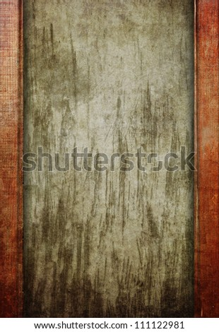 Paper sheet with wooden planks