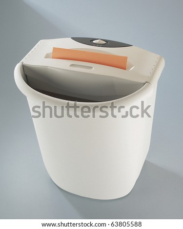 paper shredder isolated on a plain background