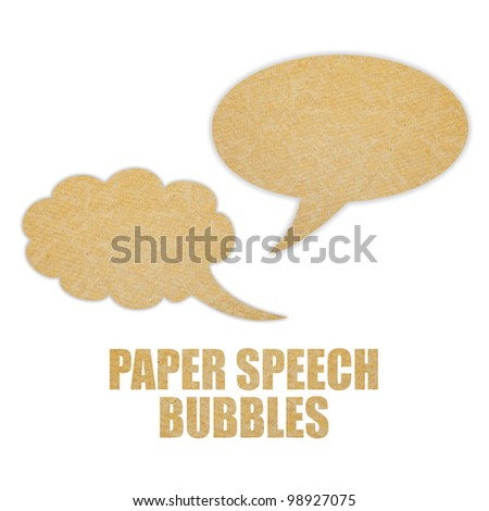 Paper speech bubbles - stock photo