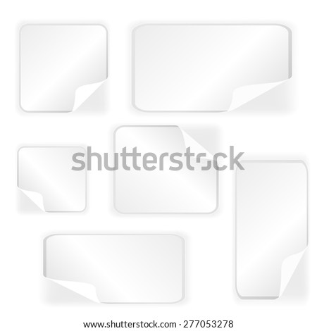 Paper Stickers Collection Isolated on White Background #277053278
