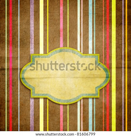 Paper striped background in retro style
