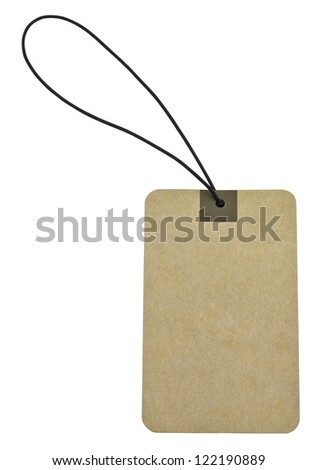 Paper tag isolate on white background