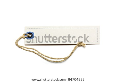 Paper Tag Isolated On White Background