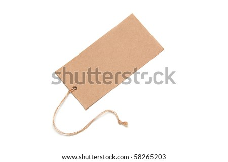 Paper Tags Isolated On White Background