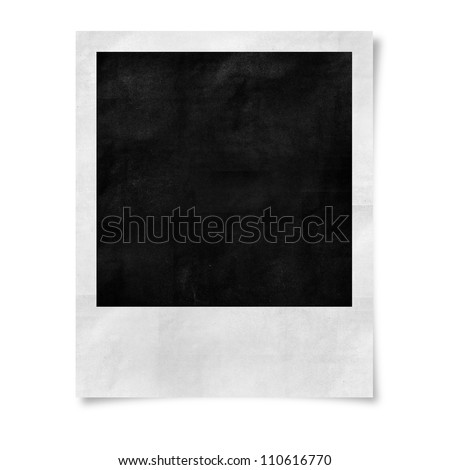 Paper texture ,Blank photo isolated on white
