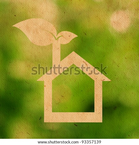 paper texture of eco house logo