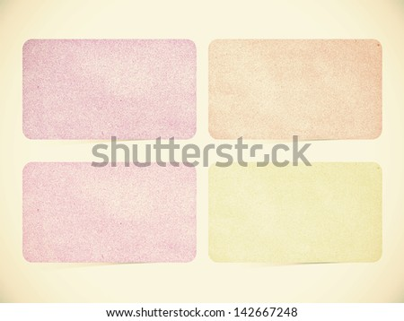 Paper texture ,Talk tag on vintage tone  background