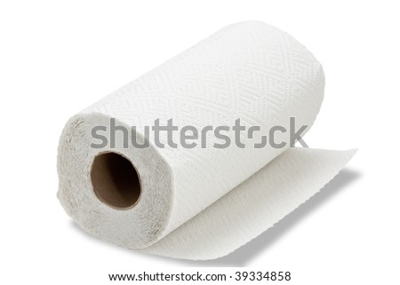 Paper towel on white background