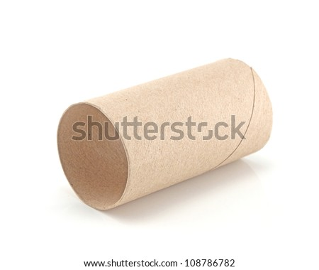 Paper tube on a white background.