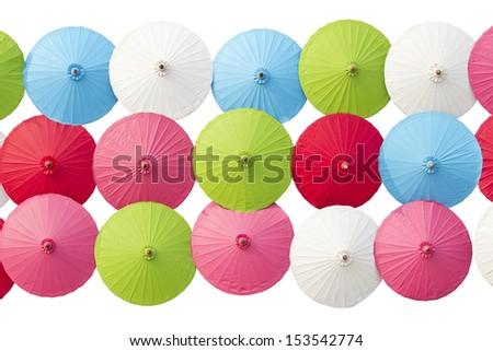 Paper Umbrella isolated on white
