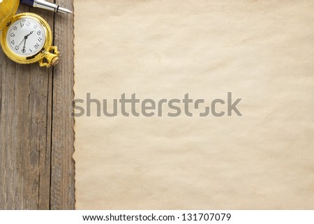 paper vintage parchment on wood background